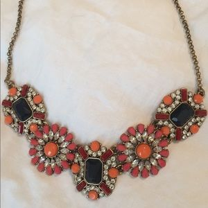 J crew rhinestone statement necklace.